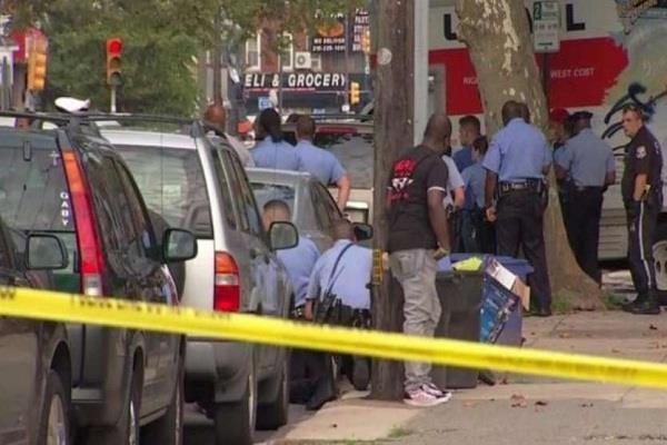shooting philadelphia policeman injured america 6 injured