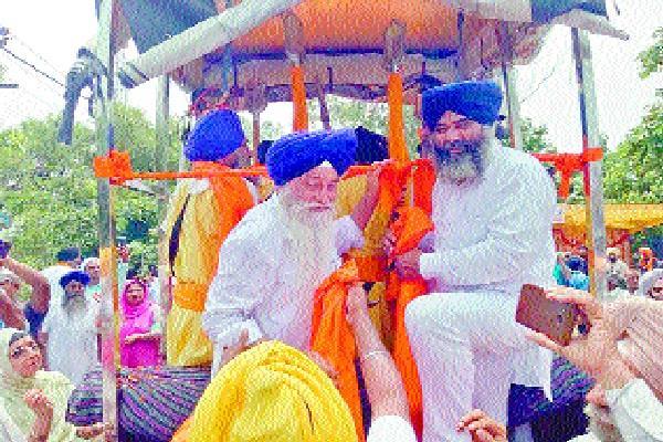 city kirtan welcomed on reaching jagadhri