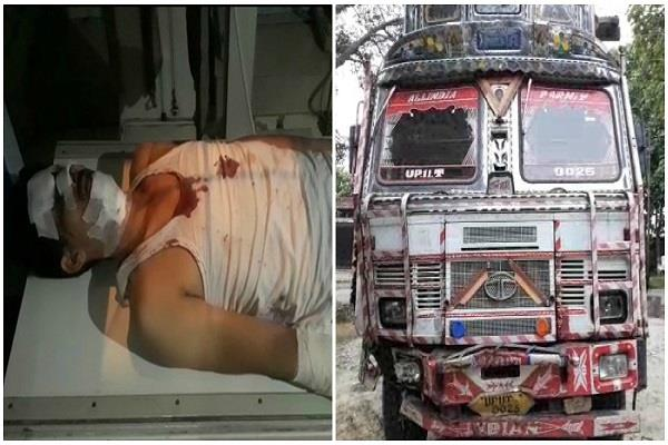 bagpat the truck collided with the truck daroga death