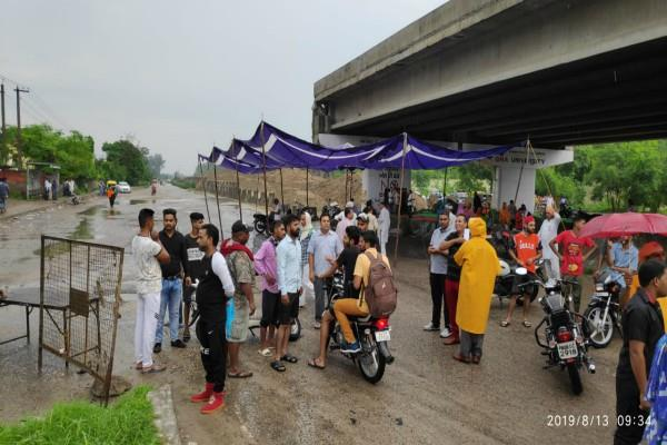 highway stalled by performance roads to amritsar airport closed