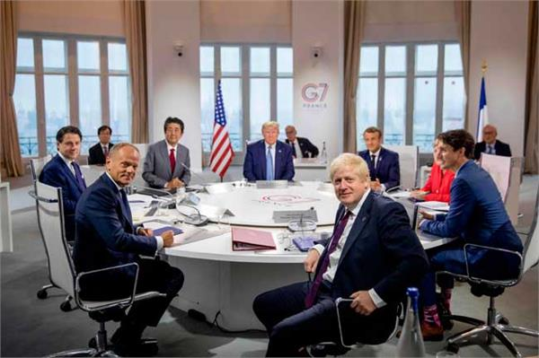 g7 wrestles with iran amazon fires and trade but own unity shaky