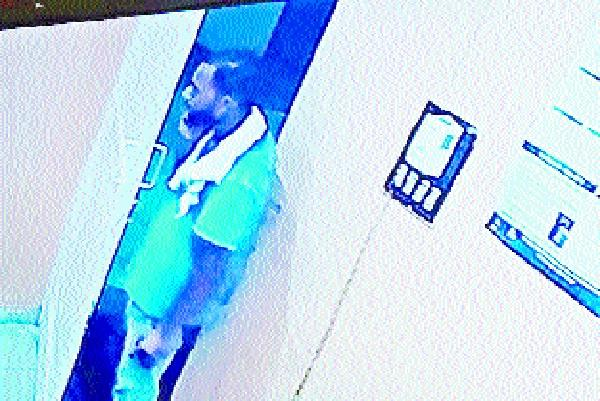 stamp stolen from medical officer s room incident captured on camera