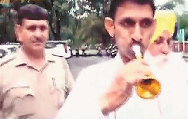 protest against titu baniya
