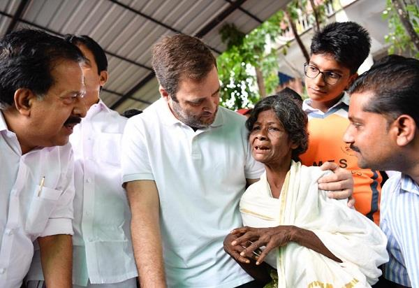 rahul gandhi appealed to people to donate relief material for wayanad