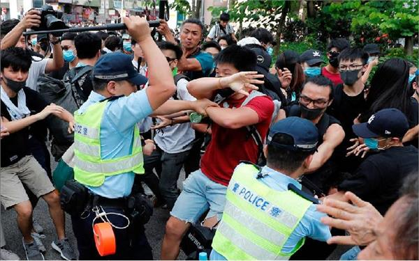 hk protests 15 policemen injured 36 protesters arrested