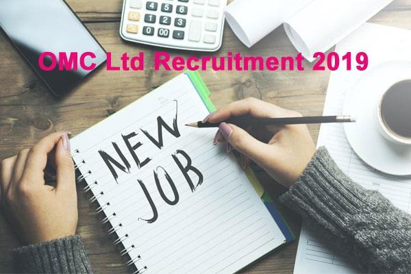 omc ltd recruitment 2019 recruitment for 78 posts including foreman