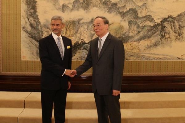 jaishankar meet vice president of china wang qishan