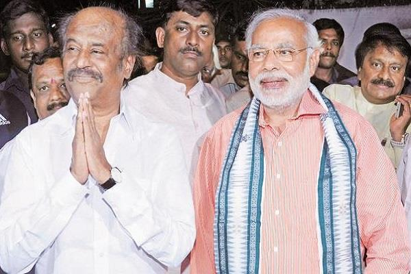 rajinikanth compare shah modi to krishna arjun