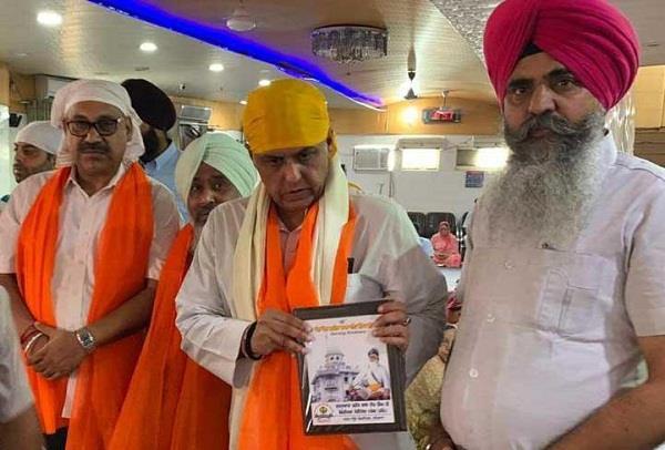 mp manish visit in gurudwara baba deep singh