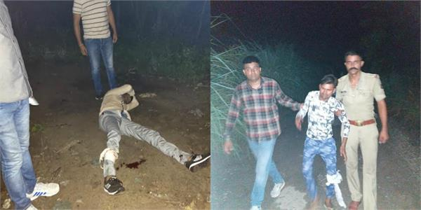 ghaziabad police s encounter two prize crooks of 25 25 thousand arrested