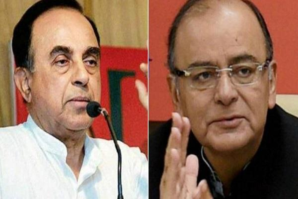 swamy allegation jaitley wrong policies responsible for sluggish economy
