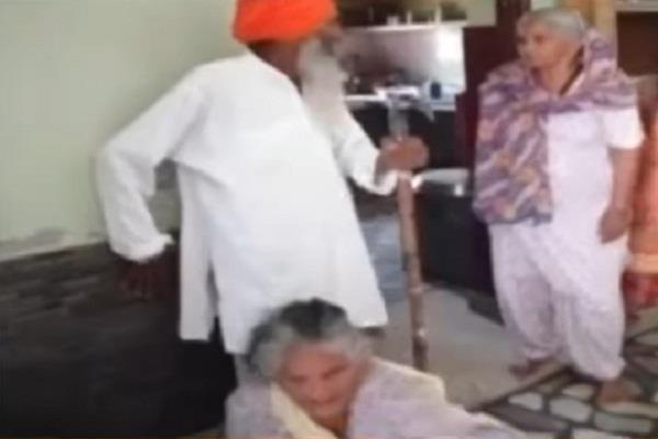 daughter in law beating her mother in law brutall