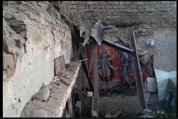 roof of poor family s house collapses