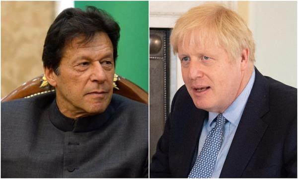 imran khan discusses kashmir issue with boris johnson
