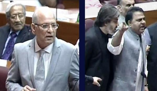 ruckus in pak parliament after senator calls minister dog