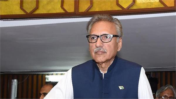 twitter sends notice to pakistani president arif alvi on kashmir tweet