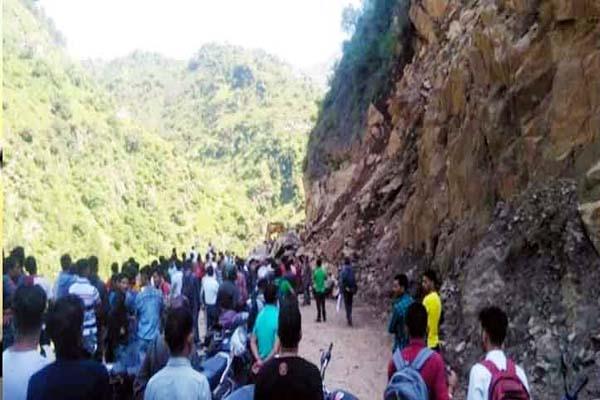 landslide on chamba bharmour nh