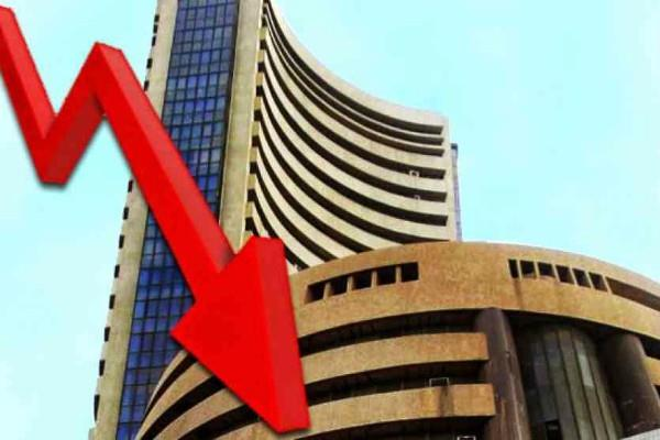 sensex dropped 587 points and nifty closed at 10741