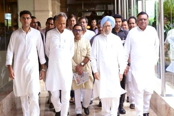 manmohan singh filed nomination for rajya sabha by election from rajasthan