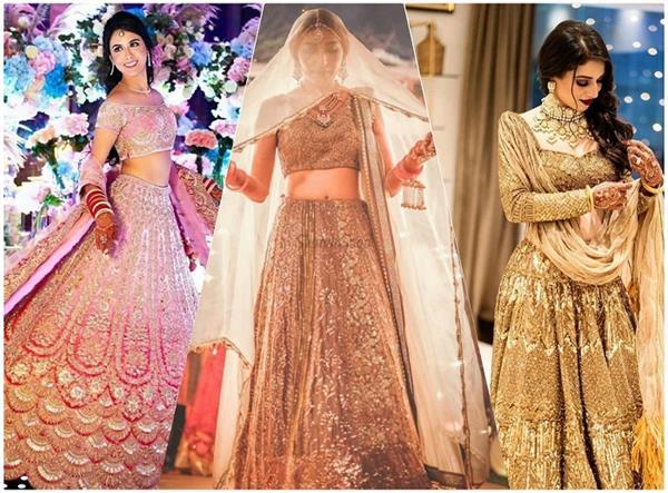 Bridal Fashion: लाल या पिंक नहीं, अब ट्राई करें मैग्नेटिक मेटैलिक लहंगा, देखिए तस्वीरें