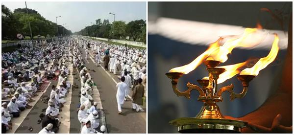 ban on performing aarti on roads and offering namaz in up