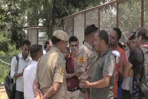 angry examinees created ruckus outside the examination center