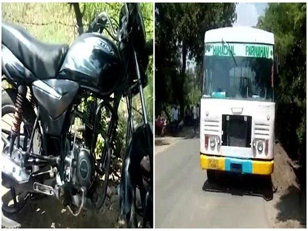 accident bus and bike