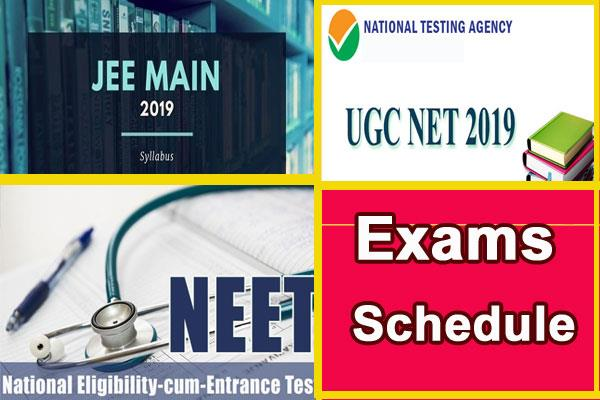 ugc net 2019 nta released exam schedule
