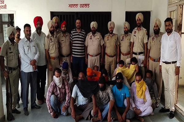 13 accused arrested for illegal mining in tarn taran