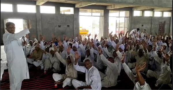indefinite picketing of haryana swabhiman movement begins