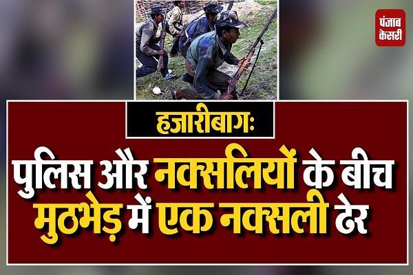 naxalite heap encounter police naxalites hazaribagh insas rifle recovered