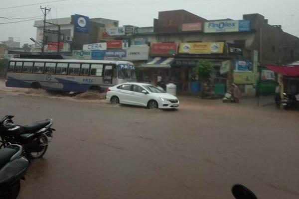 samrala situation flood highway submerged in water