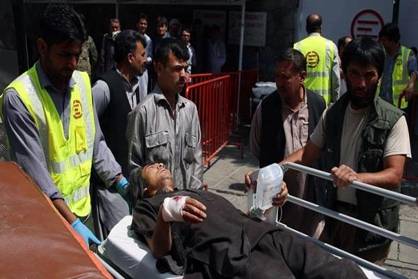 14 killed 145 injured in taliban suicide attack in kabul