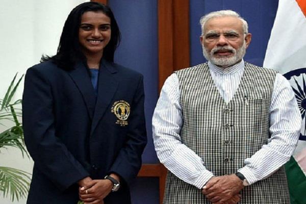 pm modi congratulates him on winning the badminton world champion title