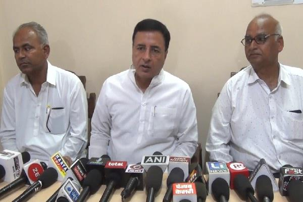 surjewala said rss and bjp anti dalit and backward made serious allegations