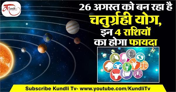 chaturgrahi yoga effects of all horoscope