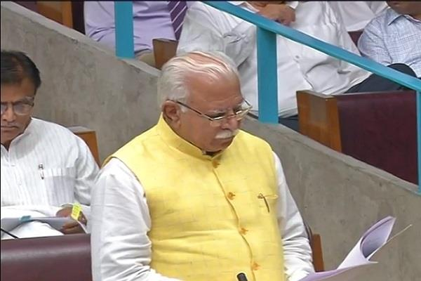 chief minister greets the first day of the monsoon session of haryana