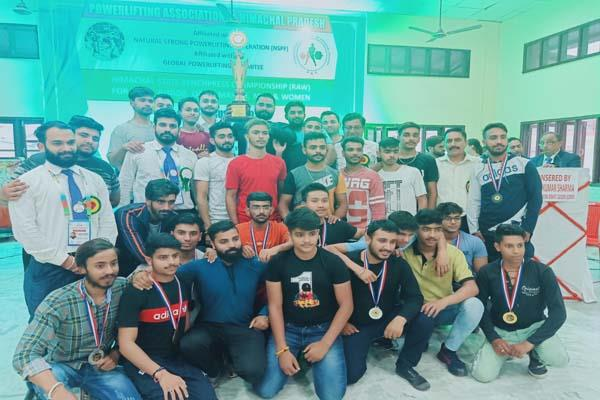 palampur power liftftag championship completed
