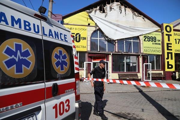 nine people died in hotel fire in ukraine