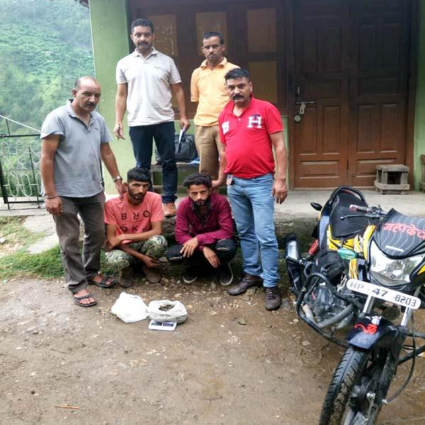bike rider arrested with hashish