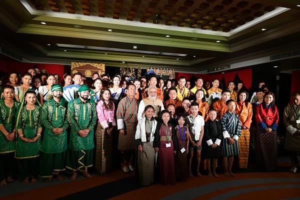pm modi in fun mood with bhutan mps watch video