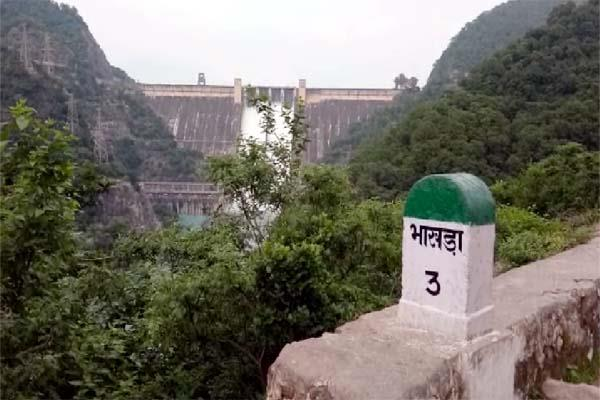 water release from bhakra dam