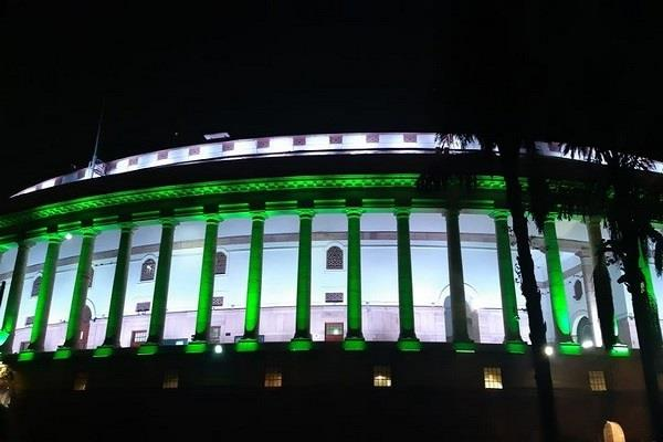 special lights will enhance the grandeur of parliament house