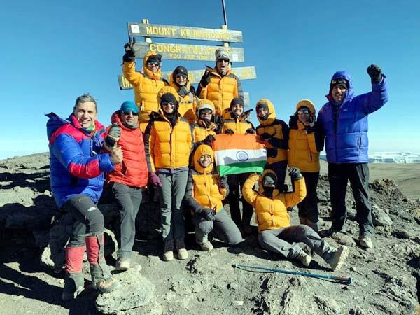 himachali daughter on peak of mount kilimanjaro