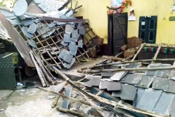 house demolished in jawali