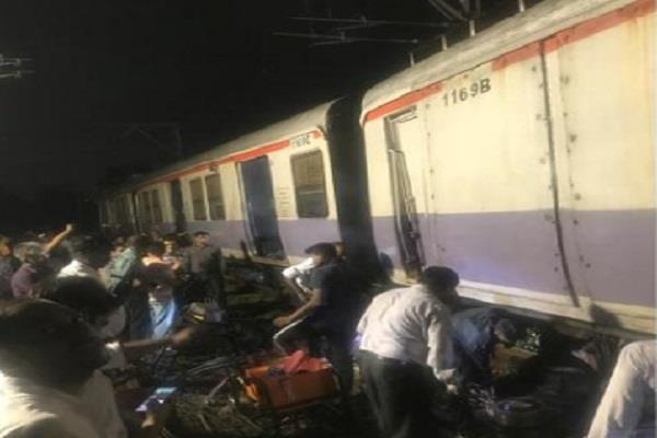 mumbai local train derailed on trans harbor line services disrupted