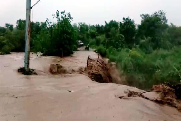 bridge damage by heavy rain