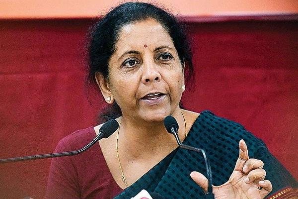 sitharaman asked congress to speak in one voice on kashmir