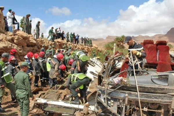 11 people died in a bus accident in morocco
