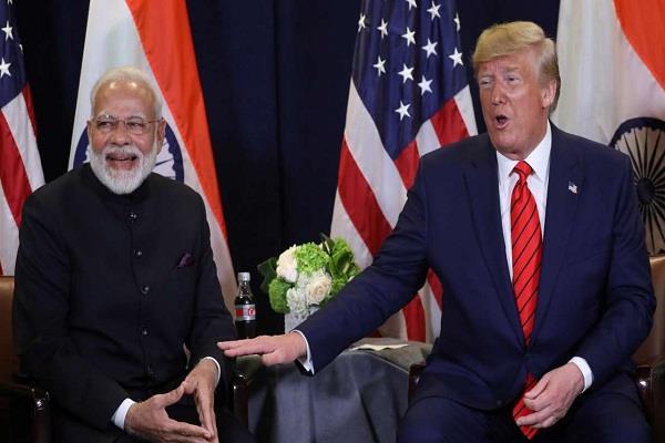 trump praised pm for his bridges says modi is father of india